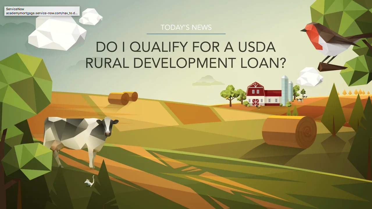 Do I qualify for a USDA Rural Development loan?